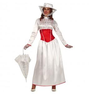 Disfarce original Mary Poppins branco mulher ao melhor preço