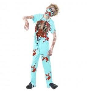 Disfarce Halloween Doctor zombie para meninos para uma festa do terror