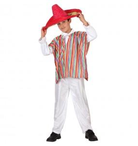 Disfarce Mexicano Multicolor menino para deixar voar a sua imaginação