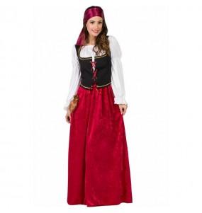 Fato de Hospedeira Medieval para mulher