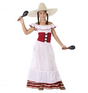 Disfarce Mexicana branca menina para que eles sejam com quem sempre sonharam
