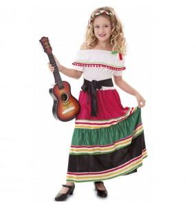 Fato de Mexicana tradicional para menina
