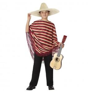 Disfarce Mexicano listrado menino para deixar voar a sua imaginação