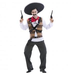 Disfarce Mexicano Pistoleiro adulto divertidíssimo para qualquer ocasião