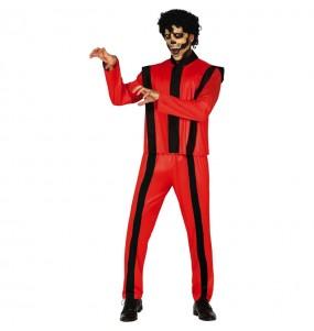 Fato de Michael Jackson thriller adulto para a noite de Halloween