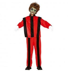 Disfarce Halloween Michael Jackson thriller para meninos para uma festa do terror