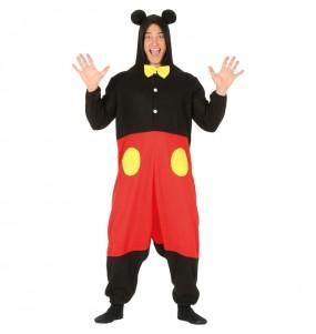 Disfarce kigurumi Mickey Mouse adulto adulto divertidíssimo para qualquer ocasião