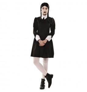 Fato de Wednesday Addams para mulher