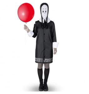 Fato de Wednesday Família Addams mulher para a noite de Halloween