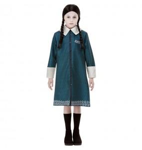 Fato de Wednesday Família Addams para menina
