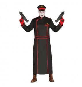 Fato de Militar gótico adulto para a noite de Halloween