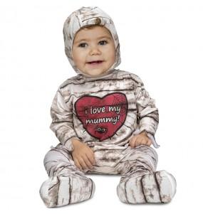 Disfarce Halloween Múmia com que o teu bebé ficará divertido