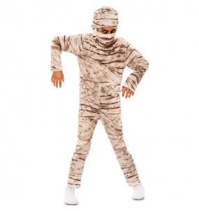 Disfarce Halloween Múmia para meninos para uma festa do terror
