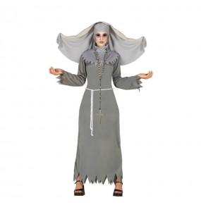 Fato de Freira do terror mulher para a noite de Halloween