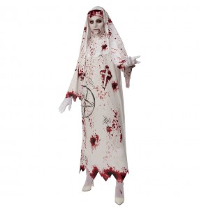 Fato de Freira sangrenta mulher para a noite de Halloween