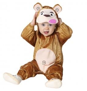 Fato de Macaco marrom para bebé