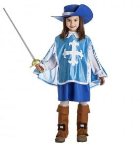 Fato de Mosqueteira azul para menina