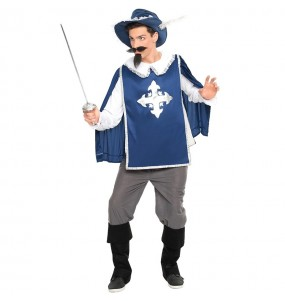 Disfarce Mosqueteiro Azul adulto divertidíssimo para qualquer ocasião