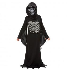 Fato de Morte esqueleto para menino