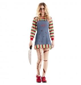 Fato de Chucky o boneco assassino para mulher