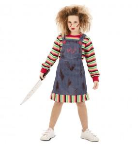 Fato de Chucky o boneco assassino para menina