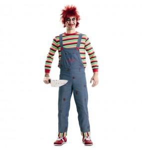 Fato de Chucky o boneco assassino adulto para a noite de Halloween