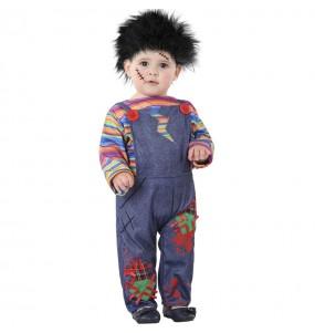 Fato de Boneco sangrento Chucky para bebé