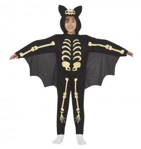 Fato de Morcego esqueleto para menino
