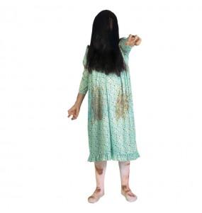 Fato de Menina possuída mulher para a noite de Halloween
