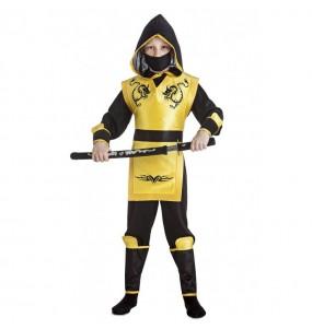 Disfarce Ninja Amarelo menino para deixar voar a sua imaginação