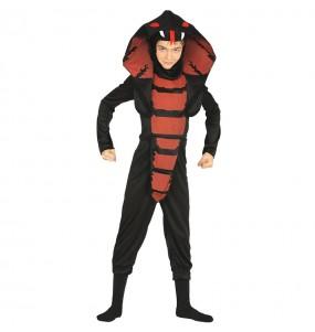 Disfarce Halloween Ninja Cobra para meninos para uma festa do terror