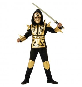 Disfarce Ninja Drag?o Dourado menino para deixar voar a sua imagina??o