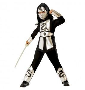 Disfarce Ninja Drag?o Prateado menino para deixar voar a sua imagina??o