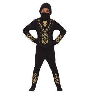 Fato de Ninja Esqueleto para menino