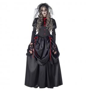 Fato de Noiva Cadáver Gótica mulher para a noite de Halloween