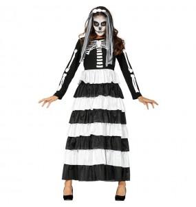 Fato de Noiva das trevas mulher para a noite de Halloween