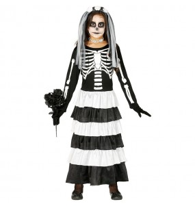 Disfarce Halloween Noiva esqueleto meninas para uma festa Halloween