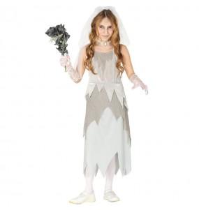 Disfarce Noiva Fantasma menina para que eles sejam com quem sempre sonharam