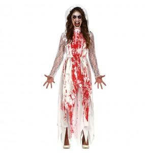 Fato de Noiva sangrenta para mulher