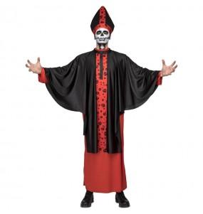 Fato de Bispo sinistro adulto para a noite de Halloween