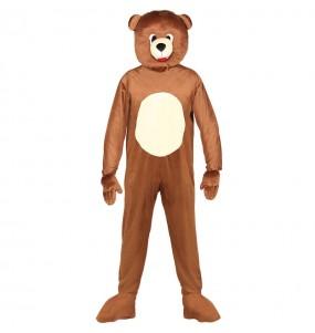 Disfarce Urso cabeçudo adulto divertidíssimo para qualquer ocasião
