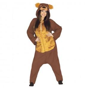 Disfarce japonês Urso Marrom Kigurumi adulto divertidíssimo para qualquer ocasião