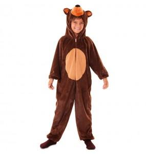 Disfarce Urso marrom de pelúcia menino para deixar voar a sua imaginação