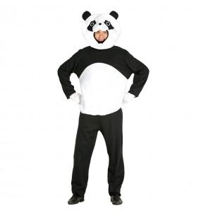 Disfarce Urso Panda adulto divertidíssimo para qualquer ocasião