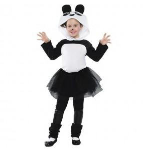 Fato de Urso Panda com tutu para menina