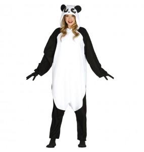 Disfarce japonês Urso Panda Kigurumi adulto divertidíssimo para qualquer ocasião