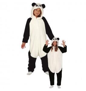 Disfarce japonês Urso Panda Kigurumi criança para deixar voar a sua imaginação