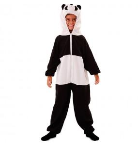 Disfarce Urso Panda de pelúcia menino para deixar voar a sua imaginação