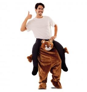 Disfarce Ride On Urso Pelúcia adulto divertidíssimo para qualquer ocasião