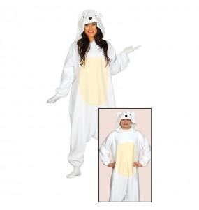 Disfarce japonês Urso Polar Kigurum adulto divertidíssimo para qualquer ocasião